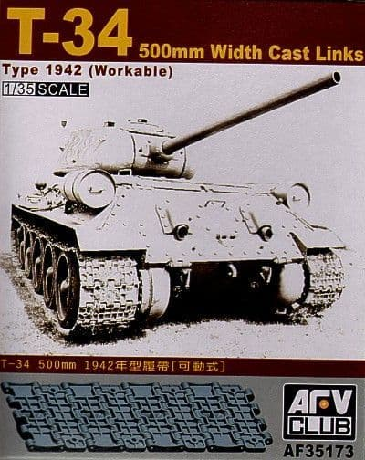 AFV Club 1/35 T-34 500mm Workable Track Links # AF35173