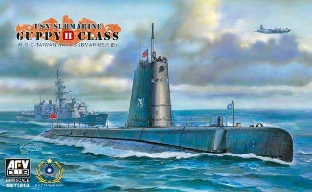 AFV Club 1/350 USN Guppy II Class Submarine # SE73513