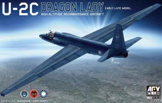 AFV Club 1/48 U-2C Dragon Lady Early/Late Model High-Altitude Reconnaissance Aircraft # AR48114