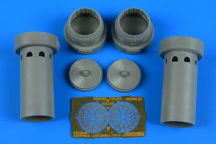 Aires 1/72 Grumman F-14A Tomcat Exhaust Nozzles - Opened Position # 7373