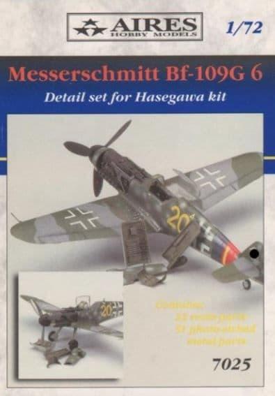 Aires 1/72 Messerschmitt Bf-109G-6 Detail Set # 7025