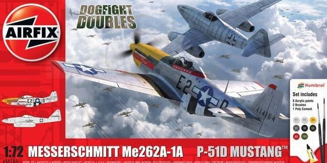Airfix 1/72 Messerschmitt Me262 & North American P-51D Dogfight Doubles # A50183
