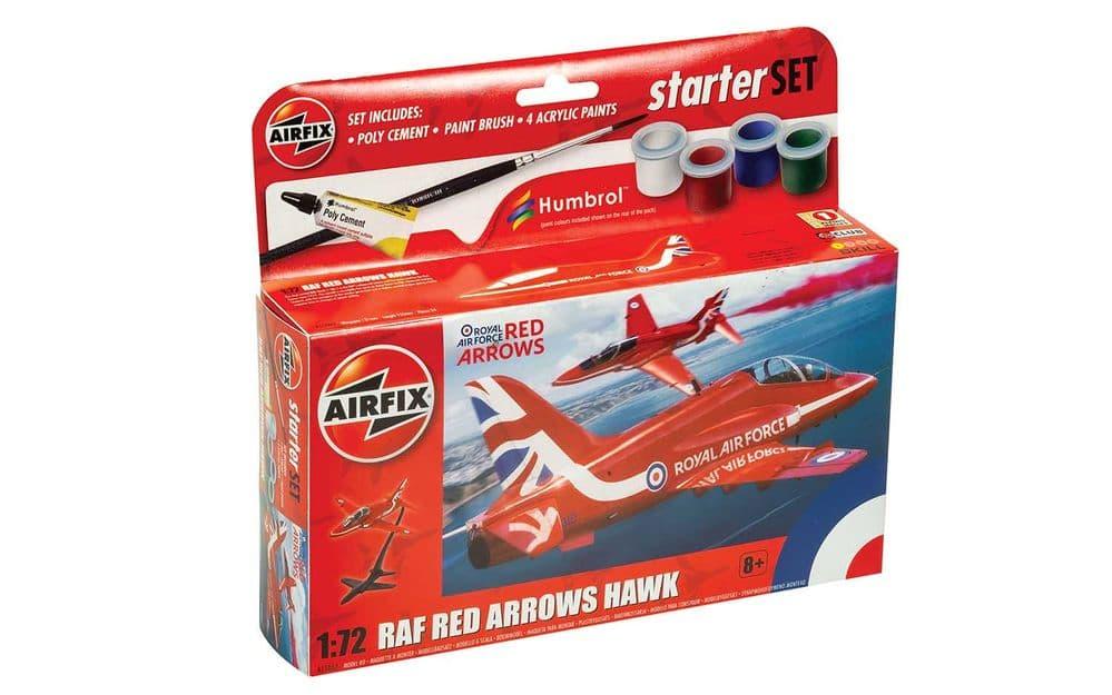 Airfix 1/72 RAF Red Arrows Hawk Starter Set # A55002