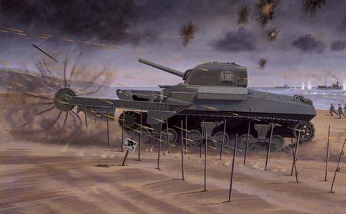 Airfix Vintage Classics 1/76 M4 Sherman Crab Mine-Clearing Tank # A02320V