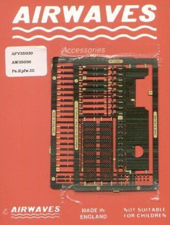 Airwaves 1/35 Pz.Kpfw.III Detailing Set # 35030