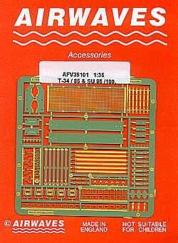 Airwaves 1/35 Soviet T-34/85 and SU-85/100 Detailing Set # AEC35101