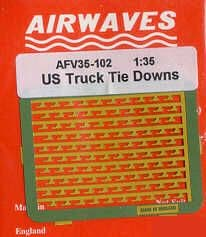 Airwaves 1/35 U.S. Truck Tie Down Brackets # AEC35102