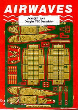 Airwaves 1/48 Douglas TBD-1 'Devastator' Wingfold Set # AEC48097