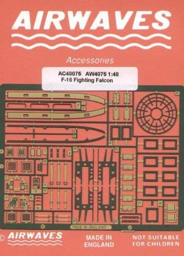 Airwaves 1/48 Lockheed Martin F-16 Fighting Falcon Detailing Set # AEC48075