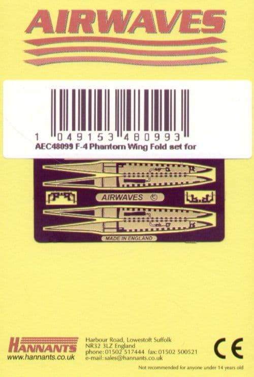 Airwaves 1/48 McDonnell F-4 Phantom Wingfold Set # AEC48099
