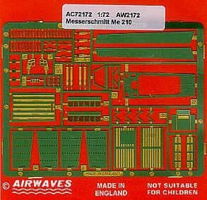 Airwaves 1/72 Messerschmitt Me-210A-1 Detailing Set # AEC72172