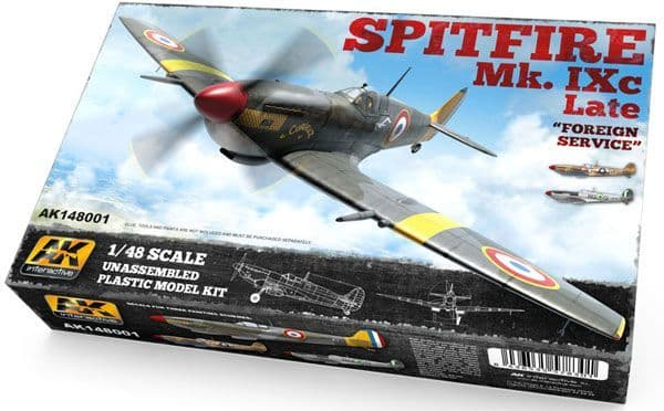 "AK Interactive 1/48 Spitfire Mk. IXc Late ""Foreign Service"" # 14"