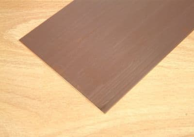 Albion Alloys - 100mm x 250mm Copper Sheet 0.6mm Thick (1 piece) # SM8M