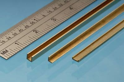 Albion Alloys - 305mm Brass Angle 90° 3mm x 3mm (1 piece) # A3