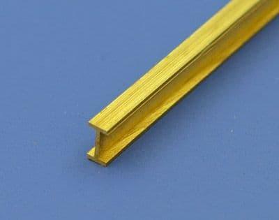 Albion Alloys - 305mm Brass I Beam 1mm x 2mm x 1mm (1 piece) # IB2