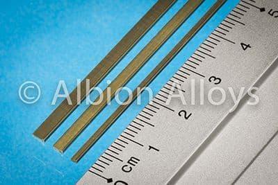 Albion Alloys - 305mm Brass L Channel 1.5mm x 1mm (1 piece) # L1