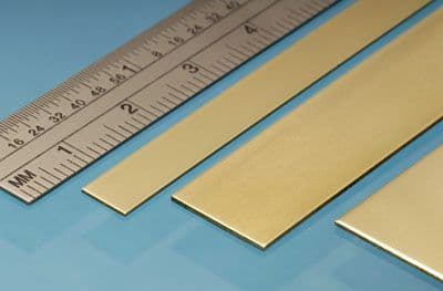 Albion Alloys - 305mm Brass Strip 25mm x 0.8mm (3 pieces) # BS9M