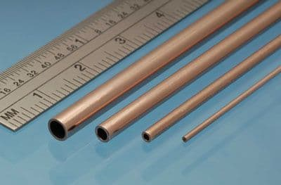 Albion Alloys - 305mm Copper Tube 6mm x 0.45mm x 5.1mm (2 pieces) # CT6M