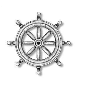 Amati - Ships Wheel Boxwood 40mm # AM435340