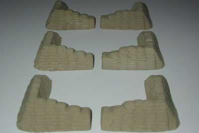 Amera Plastic Mouldings 1/72 & 1/76 Sandbag Sections # S230