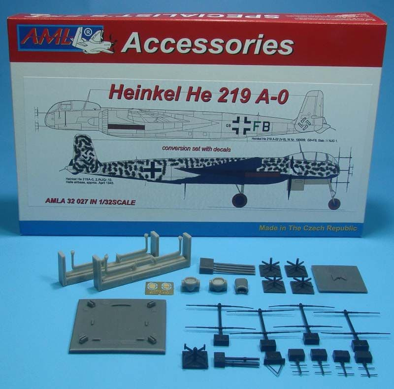 AML 1/32 Heinkel He-219 A-0 Conversion Set with Decals # A3227