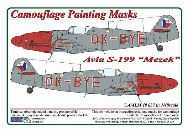 AML 1/48 Avia S-199 'Mezek' OK-BYE Camouflage Painting Mask # M4937