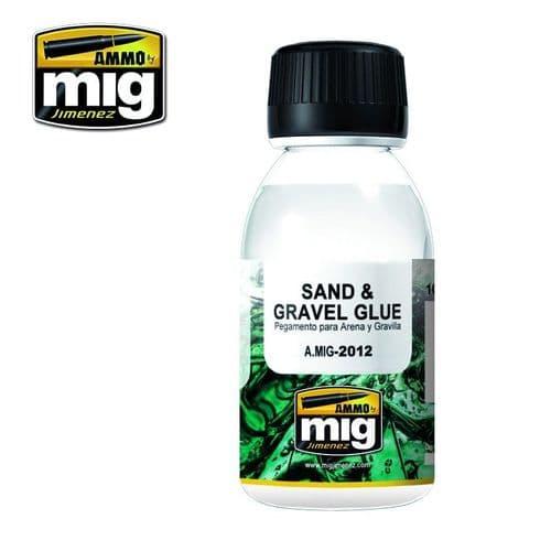 Ammo by Mig 100ml Sand & Gravel Glue # MIG-2012