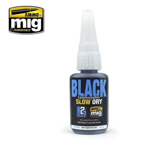 Ammo by Mig 21g Black Slow Dry Cyanoacrylate Glue # MIG-8034