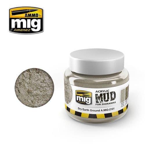 Ammo by Mig 250ml Dry Earth Ground Acrylic Mud # MIG-2101