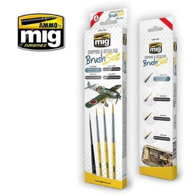 Ammo by Mig - Chipping & Detailing Brush Set # MIG-7603
