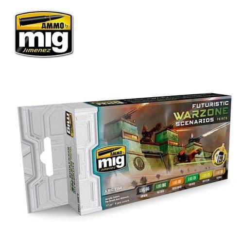 Ammo by Mig - Futuristic Warzone Scenarios Acrylic Paint Set # MIG-7154