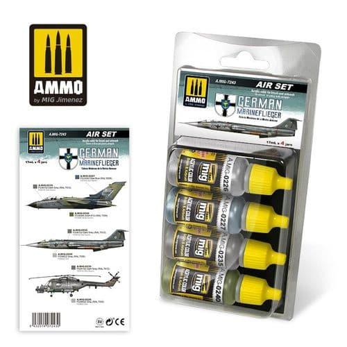 Ammo by Mig - German Marineflieger Acrylic Paint Set # MIG-7243