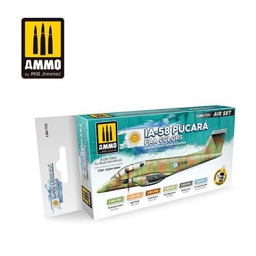 Ammo by Mig - IA-58 Pucara FAA Colours Acrylic Paint Set # MIG-7242