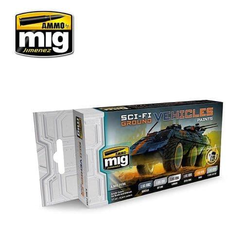 Ammo by Mig - Sci-Fi Ground Vehicles Acrylic Paint Set # MIG-7155