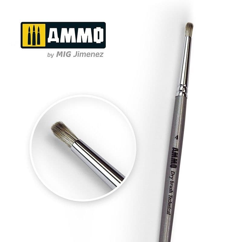 Ammo by Mig - Size 4 Soft Touch Drybrush # MIG-8701