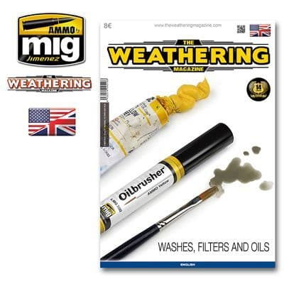 Ammo by Mig - The Weathering Magazine Issue 17 Washes, Filters & Oils # MIG-4516