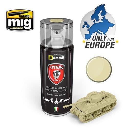 Ammo by Mig - Titans Hobby 400ml Bone White Primer # TTH116