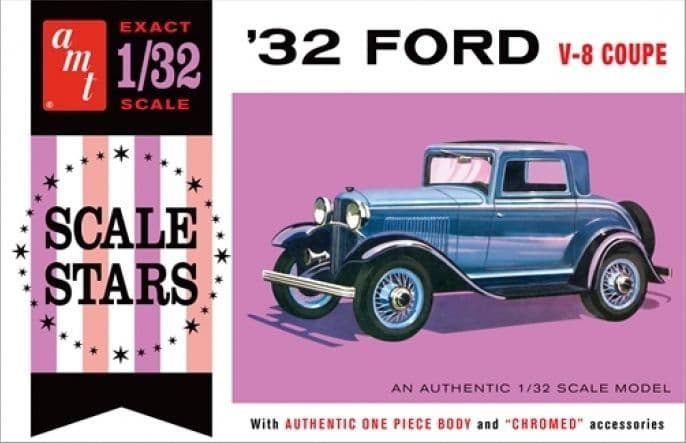 AMT 1/25 1932 Ford V8 Coupe Scale Stars # 1181