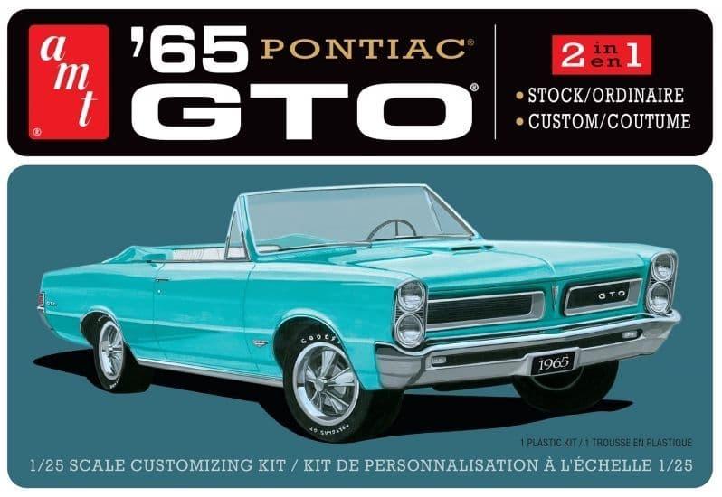 AMT 1/25 1965 Pontiac GTO (2 in 1) Stock/Custom # 1191