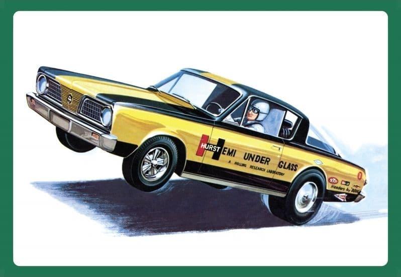"""AMT 1/25 1966 Plymouth Barracuda """"Hemi Under Glass"""" # 1153"""