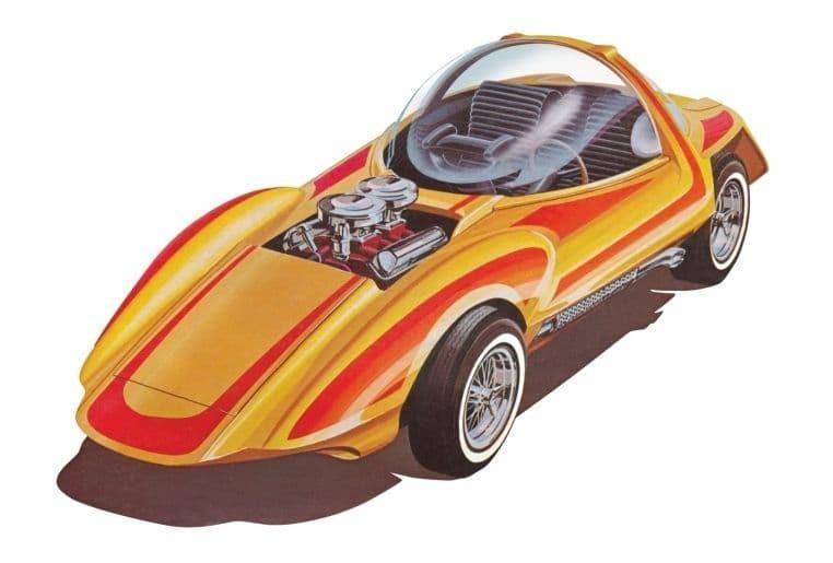 AMT 1/25 Silhouette Show Car + Trailer (Bill Cushenbery) 'Hot Wheels' # 1045
