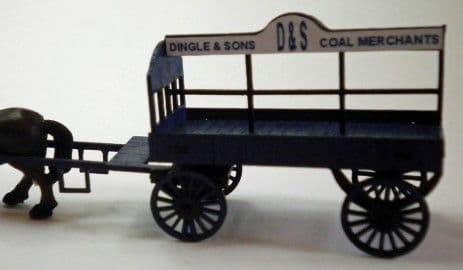 Ancorton OO Gauge Horse Drawn Coal Wagon Kit (OOCW1) # 95736