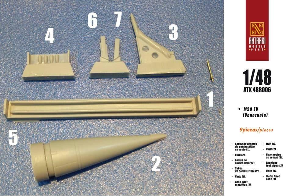 Antarki 1/48 Mirage 5O M50EV (Venezuela) F-1C (Correction Nose) - Resin Set # 48R006
