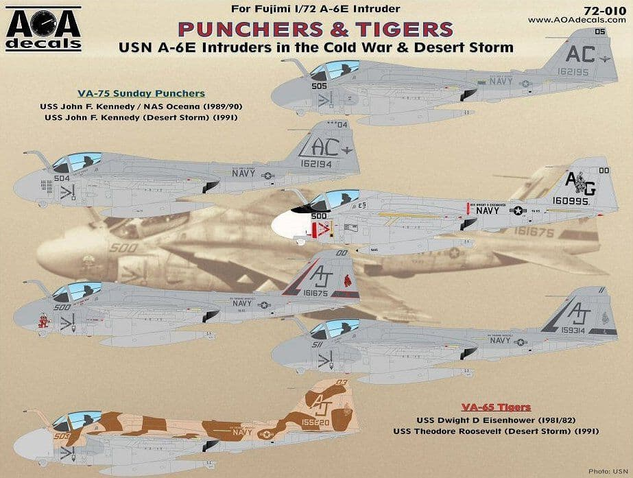 AOA Decals 1/72 Punchers & Tigers # 72010