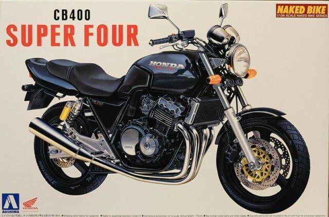 Aoshima 1/12 Honda CB400 Super Four (Black) # 04215