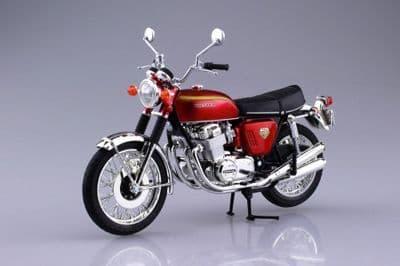 Aoshima 1/12 Honda Dream CB750FOUR (K0) Candy Red Diecast Model # 10432