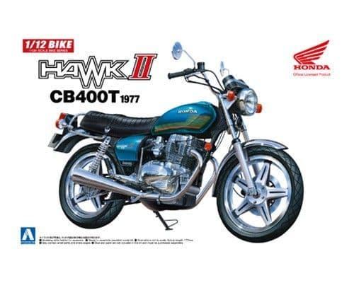 Aoshima 1/12 Honda Hawk II CB400T 1977 No.38 Plastic Model Kit # 053324