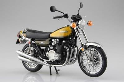 Aoshima 1/12 Kawasaki 900Super4 (Z1) Yellow Ball Diecast Model # 10459