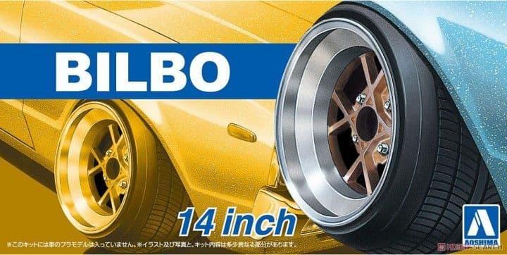 "Aoshima 1/24 Bilbo 14"" Custom Wheels Set # 05375"