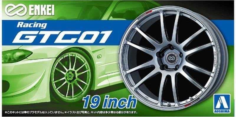 "Aoshima 1/24 Enkei Racing GTC01 19"" Custom Wheels Set # 05380"